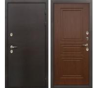 Входная металлическая дверь с терморазрывом Лекс Термо Сибирь 3К Береза мореная (панель №19)