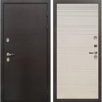Входная дверь с терморазрывом Лекс Термо Сибирь 3К Дуб фактурный кремовый (панель №63)