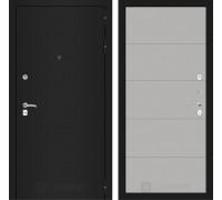 Входная дверь Labirint CLASSIC шагрень черная 13 - Грей софт