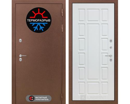 Входная дверь с терморазрывом Labirint Термо Магнит 12 Белое дерево