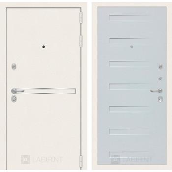 Входная дверь Labirint Лайн WHITE 14 Дуб кантри белый горизонтальный