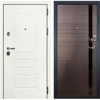 Входная дверь Лекс Сенатор 3К Шагрень белая (№31 Ясень шоколад)