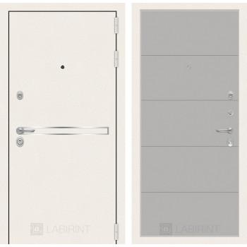 Входная дверь Labirint Лайн WHITE 13 Грей софт
