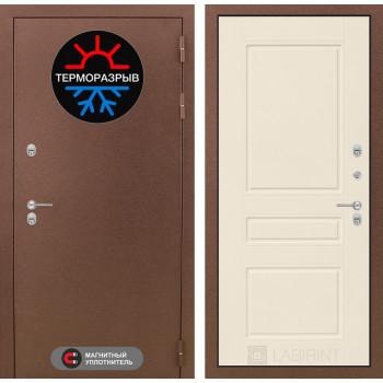 Входная дверь с терморазрывом Labirint Термо Магнит 03 Крем софт
