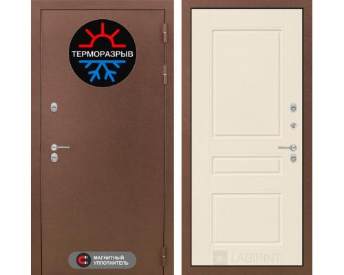 Входная дверь с терморазрывом Labirint Термо Магнит 03 Крем софт (двери с терморазрывом)