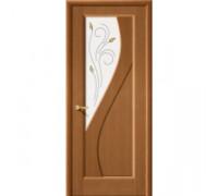 Межкомнатная шпонированная дверь Сандро ПО орех файн-лайн