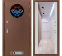 Входная дверь с терморазрывом Labirint Термо Магнит с Зеркалом Максимум Сандал белый