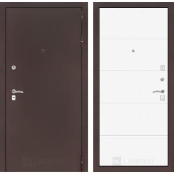Входная дверь Labirint CLASSIC антик медный 13 - Белый софт
