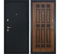 Входная металлическая дверь Лекс Рим Голден патина черная (панель №33)