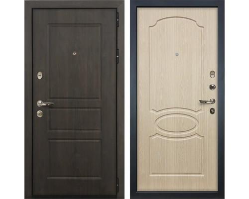 Входная стальная дверь Лекс Сенатор Винорит Белёный дуб (панель №14)