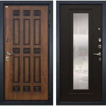 Входная металлическая дверь Лекс Гладиатор 3К Винорит с Зеркалом Венге (панель №22)