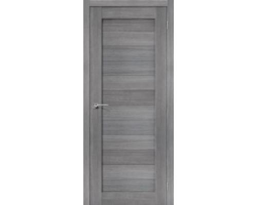 Межкомнатная дверь с эко шпоном Порта-21 ПГ Grey Veralinga
