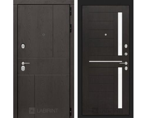 Входная дверь Labirint URBAN 02 - Венге, стекло белое