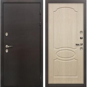 Входная металлическая дверь с терморазрывом Лекс Термо Сибирь 3К Беленый дуб (панель №14)