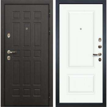 Входная металлическая дверь Лекс 8 Сенатор Вероника-1 Эмаль белая (панель №55)