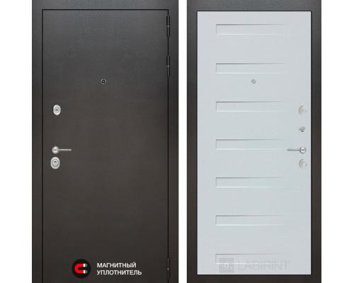 Входная дверь Labirint SILVER 14 - Дуб кантри белый горизонтальный