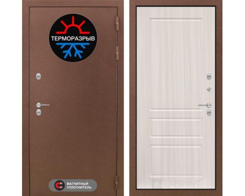 Входная дверь с терморазрывом Labirint Термо Магнит 03 Сандал белый (двери с терморазрывом)