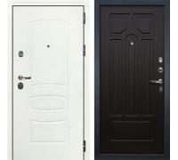 Входная металлическая дверь Лекс Сенатор 3К Шагрень белая (№32 Венге)