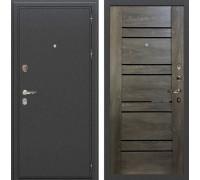 Входная металлическая дверь Лекс Колизей Терра Графит Шале (панель №64)