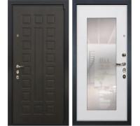 Входная металлическая дверь Лекс 4А Неаполь Mottura с Зеркалом Ясень белый (панель №37)