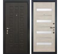 Входная металлическая дверь Лекс 4А Неаполь Mottura Сицилио Ясень кремовый (панель №48)