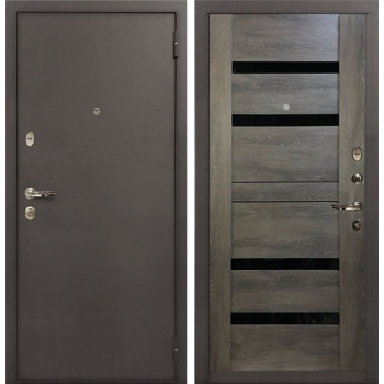 Входная стальная дверь Лекс 1А Неро (№65 Графит шале)