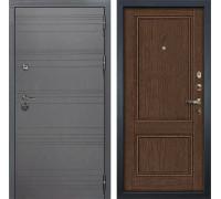 Входная дверь Лекс Сенатор 3К Софт графит Энигма-1 (№57 Орех)