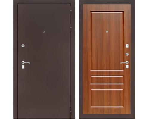 Входная дверь CLASSIC антик медный 03 Орех бренди