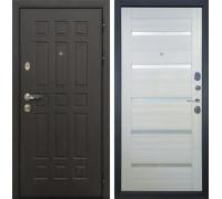 Входная металлическая дверь Лекс 8 Сенатор Клеопатра-2 Дуб беленый (панель №58)