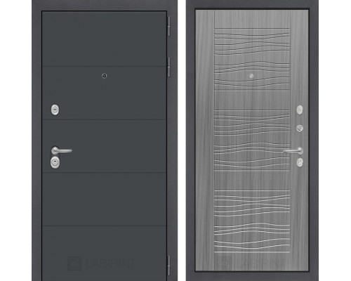 Входная дверь Labirint ART графит 06 Сандал серый
