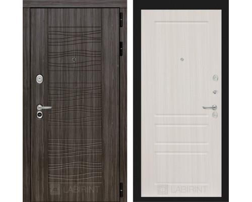 Входная дверь Labirint SCANDI Дарк грей 03 - Сандал белый