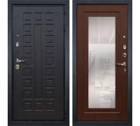 Входная металлическая дверь Лекс Гладиатор 3К с Зеркалом Береза мореная (панель №30)