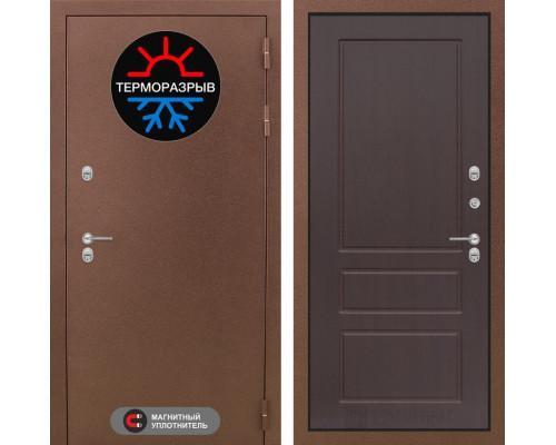 Входная дверь с терморазрывом Labirint Термо Магнит 03 Орех премиум (уличные двери с терморазрывом)