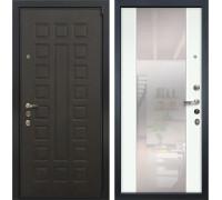 Входная металлическая дверь Лекс 4А Неаполь Mottura Стиль с Зеркалом Ясень белый (панель №61)