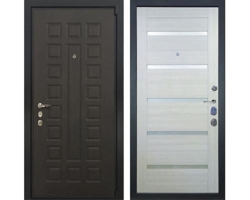 Входная металлическая дверь Лекс 4А Неаполь Mottura Клеопатра-2 Беленый дуб (панель №58)