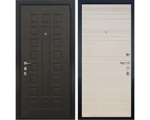 Входная металлическая дверь Лекс 4А Неаполь Mottura Дуб фактурный кремовый (панель №63)