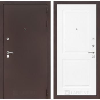 Входная дверь CLASSIC антик медный 11 Белый софт