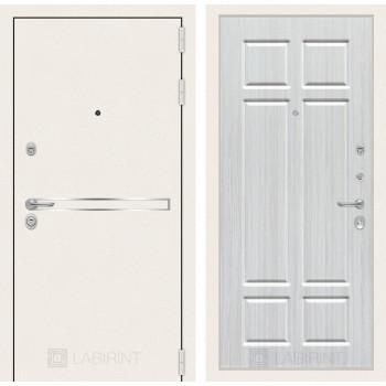 Входная дверь Labirint Лайн WHITE 08 Кристалл вуд