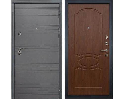 Входная металлическая дверь Лекс Сенатор 3К Софт графит (№12 Береза мореная)