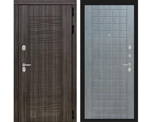 Входная дверь Labirint SCANDI Дарк грей 09 - Лен сильвер грей