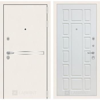 Входная дверь Labirint Лайн WHITE 12 Белое дерево