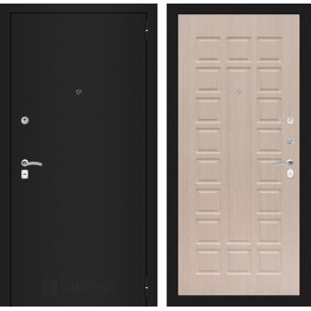 Входная дверь Labirint CLASSIC шагрень черная 04 - Беленый дуб