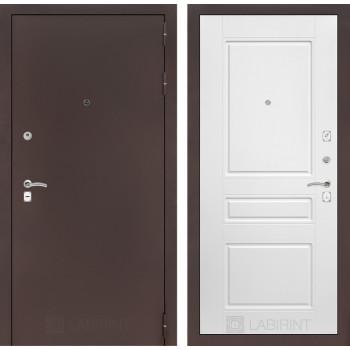 Входная дверь CLASSIC антик медный 03 Белый софт