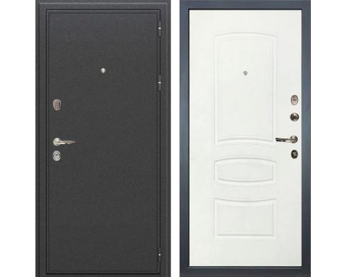 Входная металлическая дверь Лекс Колизей Белая шагрень (панель №68)