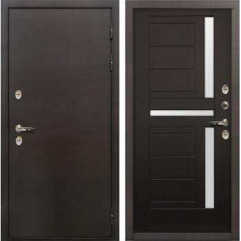 Входная металлическая дверь с терморазрывом Лекс Термо Сибирь 3К Венге (панель №35)