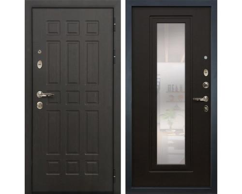Входная металлическая дверь Лекс 8 Сенатор с зеркалом Венге (панель №22)