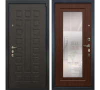 Входная металлическая дверь Лекс 4А Неаполь Mottura с Зеркалом Береза мореная (панель №30)