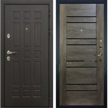 Входная металлическая дверь Лекс 8 Сенатор Терра Графит Шале (панель №64)