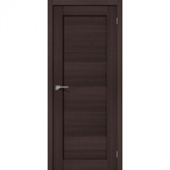 Межкомнатная дверь с эко шпоном Порта-21 ПГ Wenge Veralinga