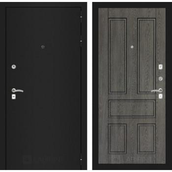 Входная дверь Labirint CLASSIC шагрень черная 10 - Дуб филадельфия графит